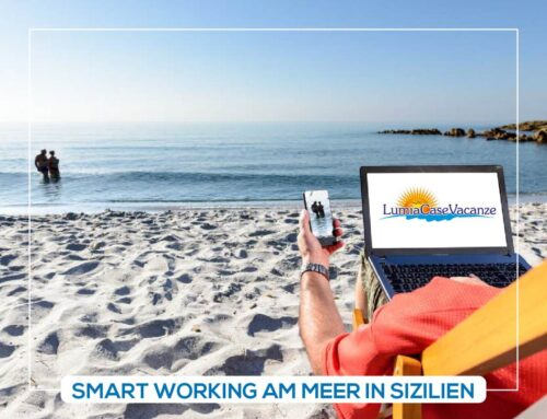 Smart working am Strand